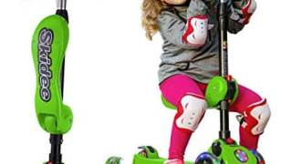 2-in-1 Scooter for Kids with Folding Removable Seat, Adjustable Height