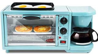 3-in-1 Multifunction Breakfast Center W/ Toaster Oven, Griddle & Coffee Maker