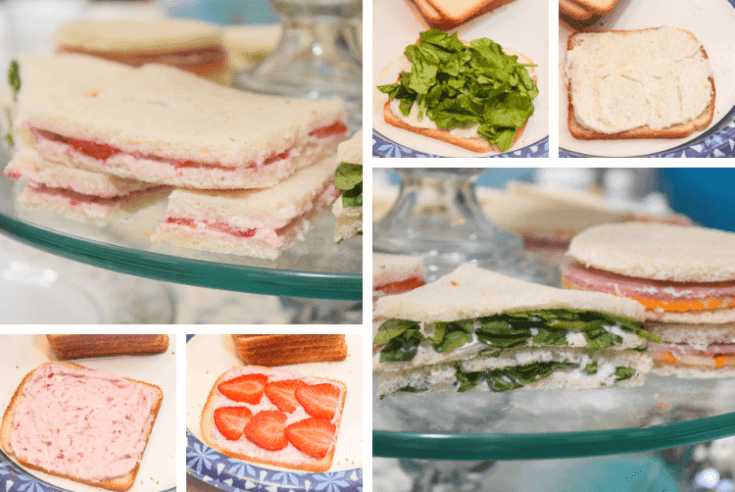 Three Types of Tea Sandwiches
