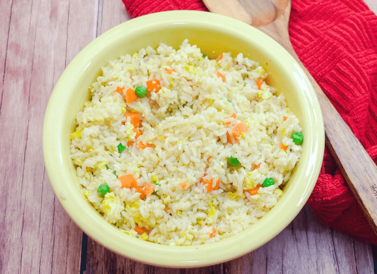 Close up of the EASIEST Fried Rice to make!