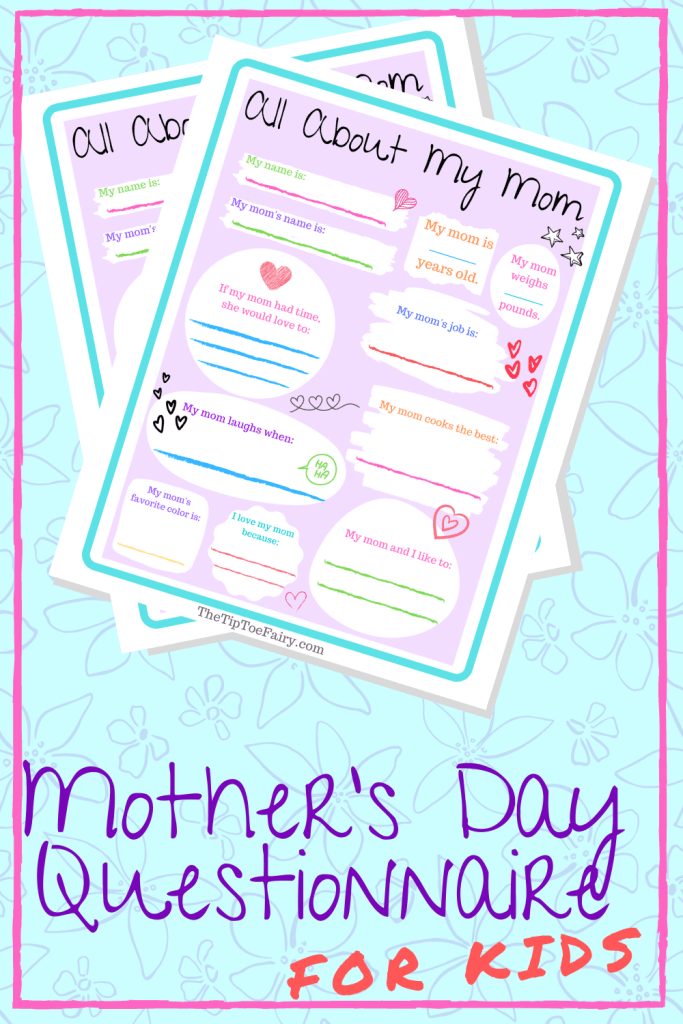Mother's Day All About Mom Free Printable Questionnaire