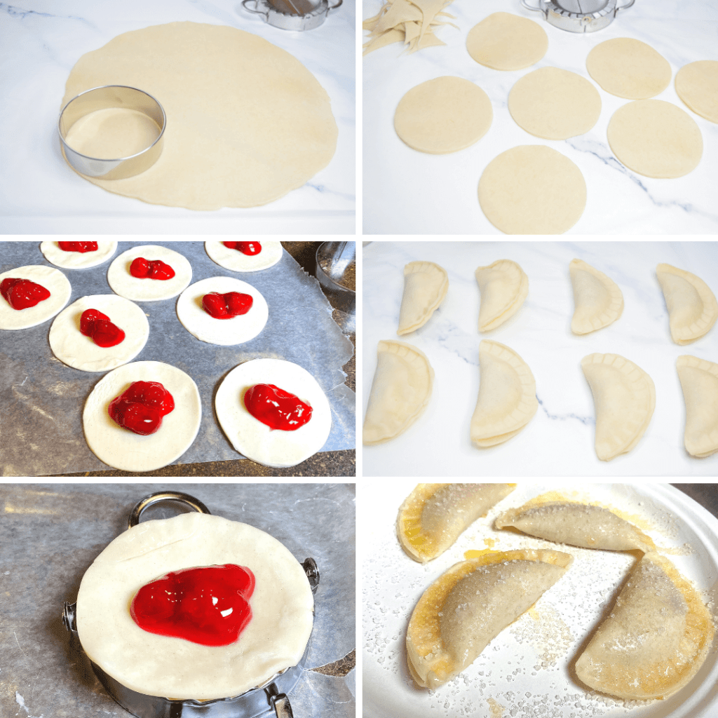 Collage image for strawberry hand pies in the air fryer