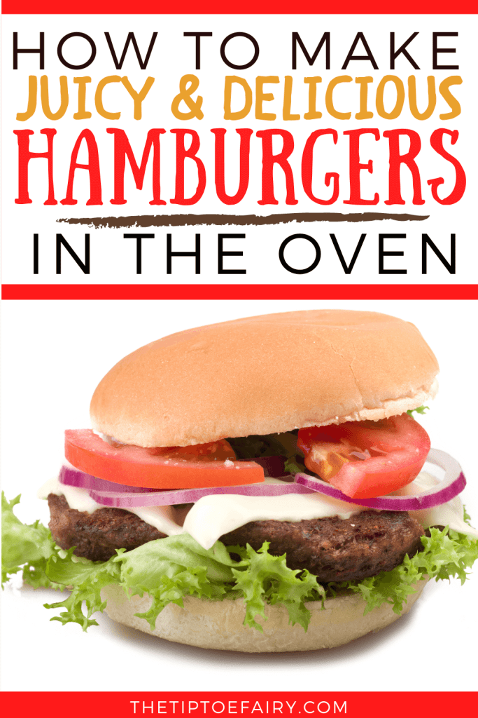 Title image for hamburgers in the oven