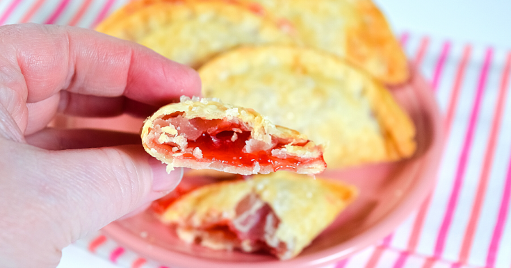 Valentine's Day Strawberry Hand Pies in the Air Fryer