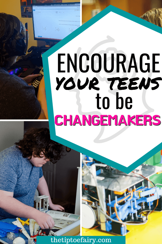 Title image to encourage your teens to be changemakers