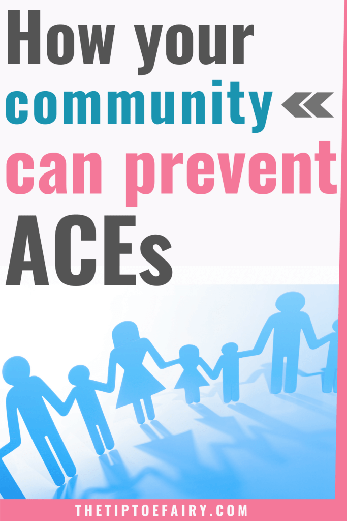 Title image for how your community can prevent aces with paper dolls cuts into a community of people