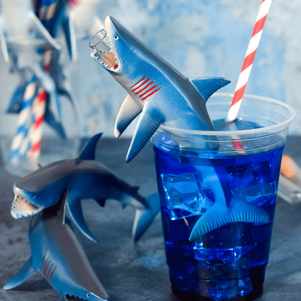 A close up of the Shark Bite Drink.