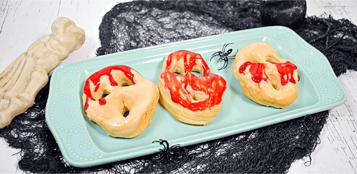 Halloween Bloody Screaming Donuts in the Air Fryer