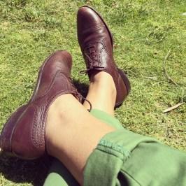 Bruno Magli vintage leather oxfords