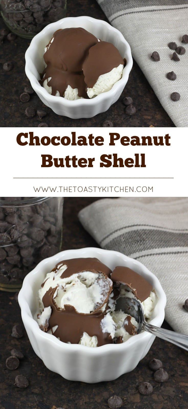Dark Chocolate Peanut Butter Shell by The Toasty Kitchen