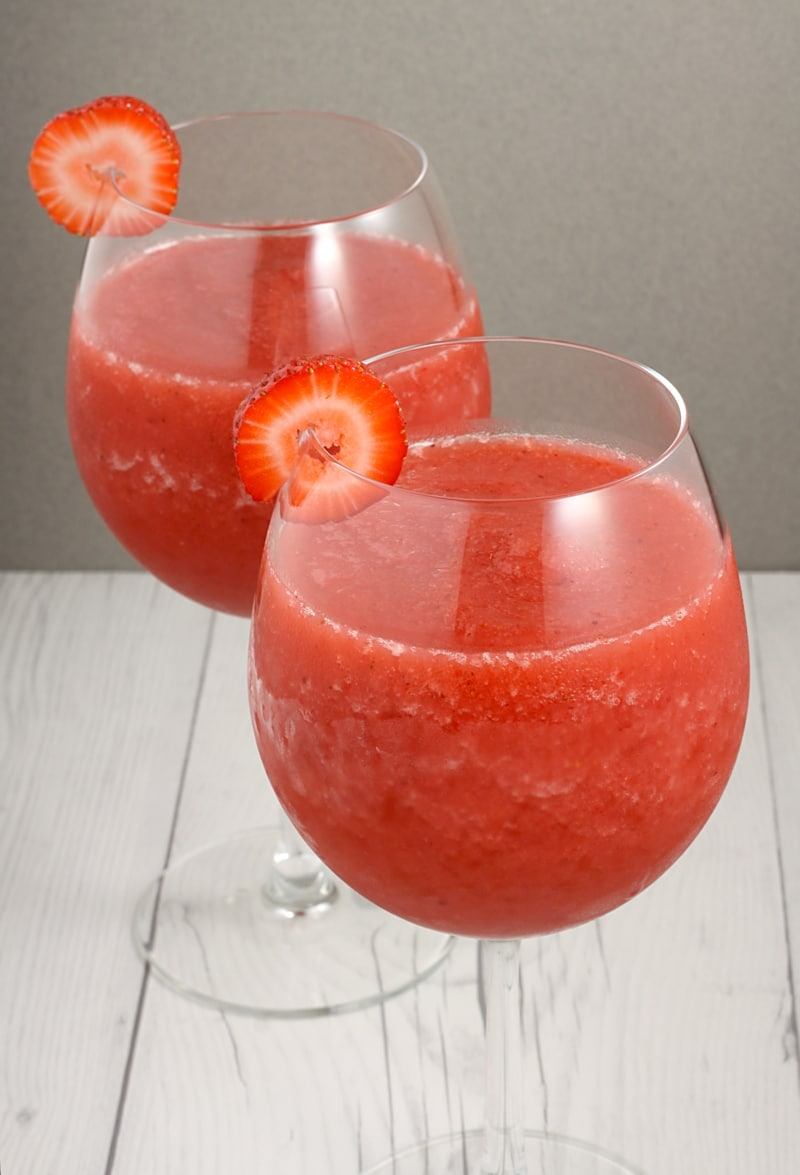 Strawberry Rosé Slush by The Toasty Kitchen