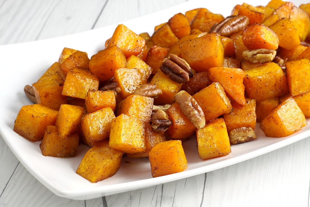 Roasted Brown Sugar Pecan Butternut Squash