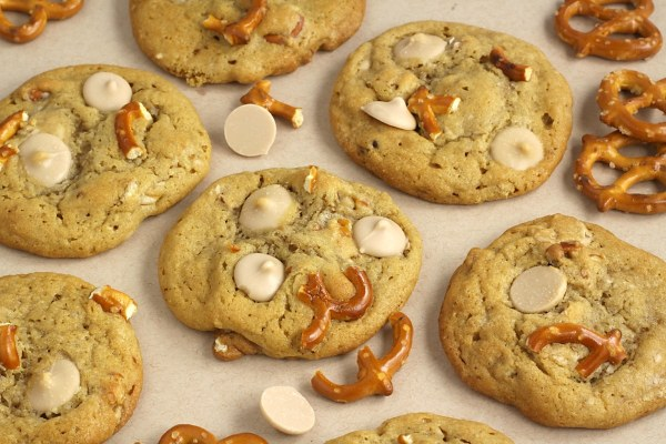 Salted Caramel Pretzel Cookies by The Toasty Kitchen