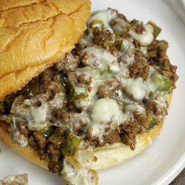 Cheesesteak Style Sloppy Joes by The Toasty Kitchen