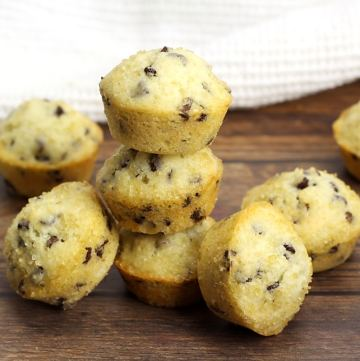 Chocolate Chip Mini Muffins by The Toasty Kitchen