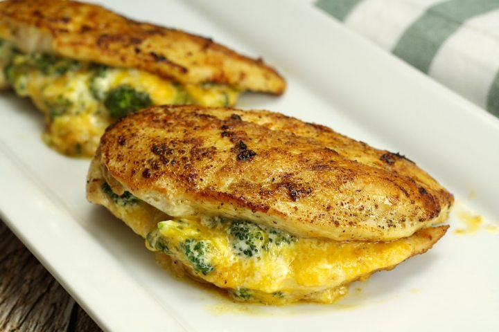 Broccoli Cheddar Stuffed Chicken by The Toasty Kitchen