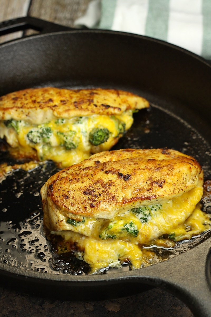 Broccoli Cheddar Stuffed Chicken The Toasty Kitchen