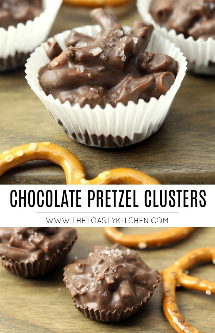 Chocolate Pretzel Clusters by The Toasty Kitchen