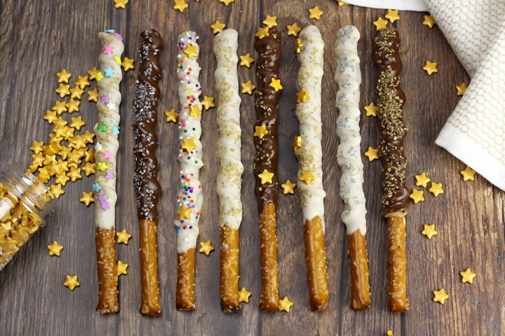 Chocolate Peanut Butter Magic Wand Pretzels by The Toasty Kitchen