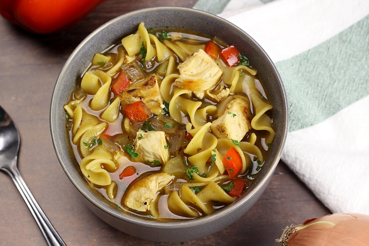 Cajun Chicken Noodle Soup by The Toasty Kitchen