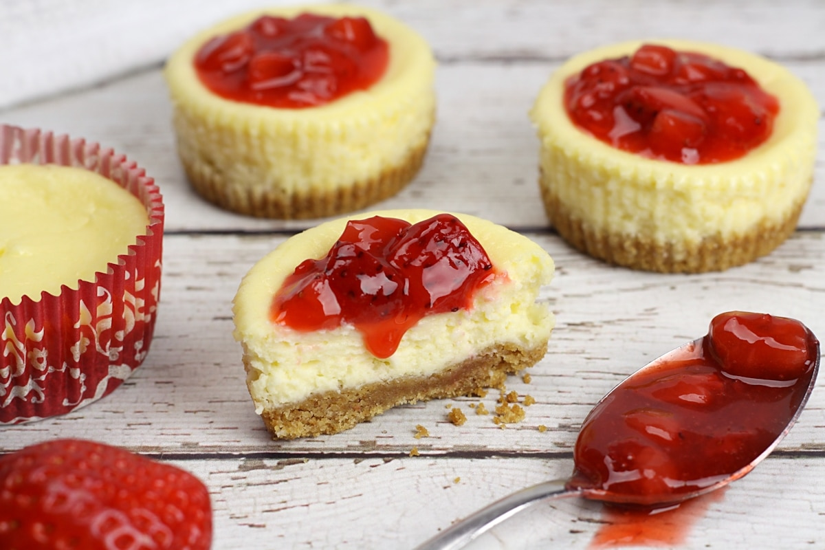 Easy Mini Cheesecakes by The Toasty Kitchen