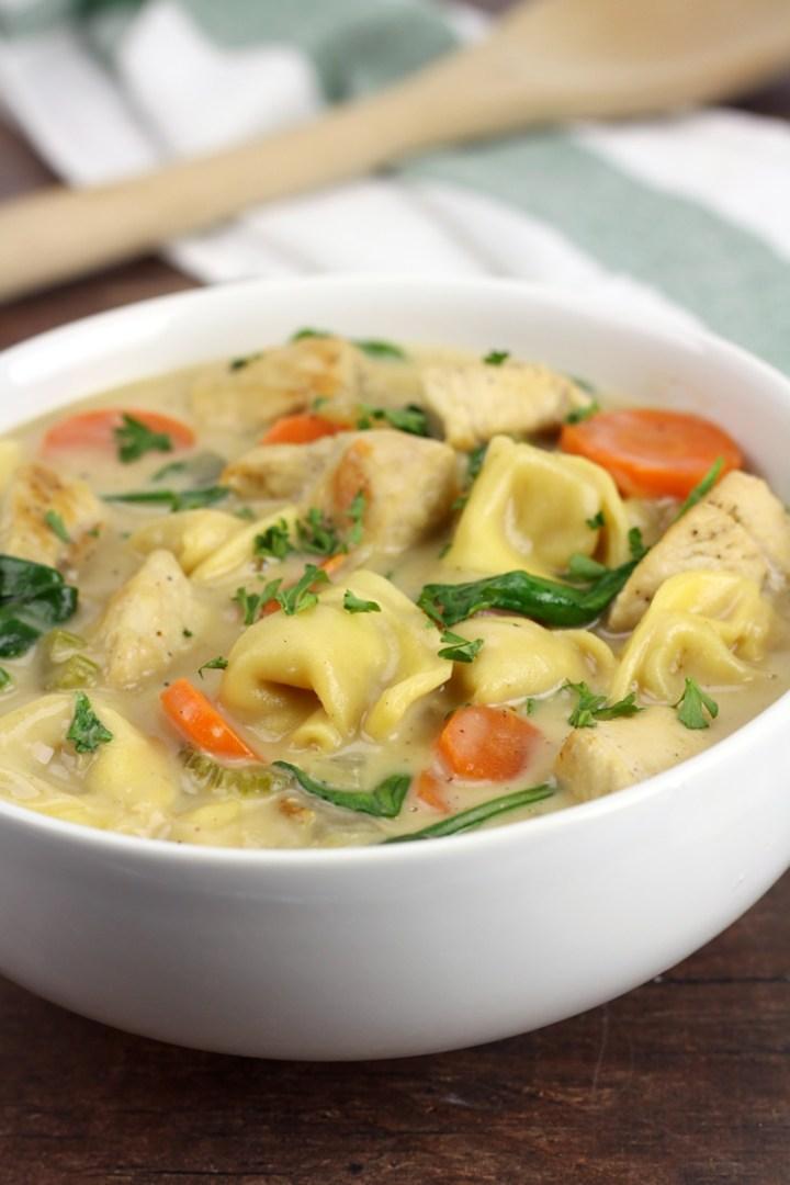 Creamy Chicken Tortellini Soup by The Toasty Kitchen