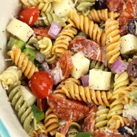 Classic Pasta Salad (for a crowd)