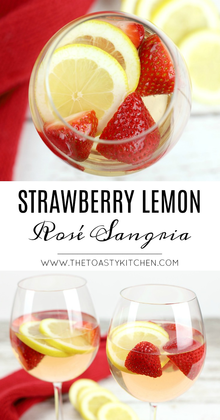 Strawberry Lemon Rosé Sangria by The Toasty Kitchen