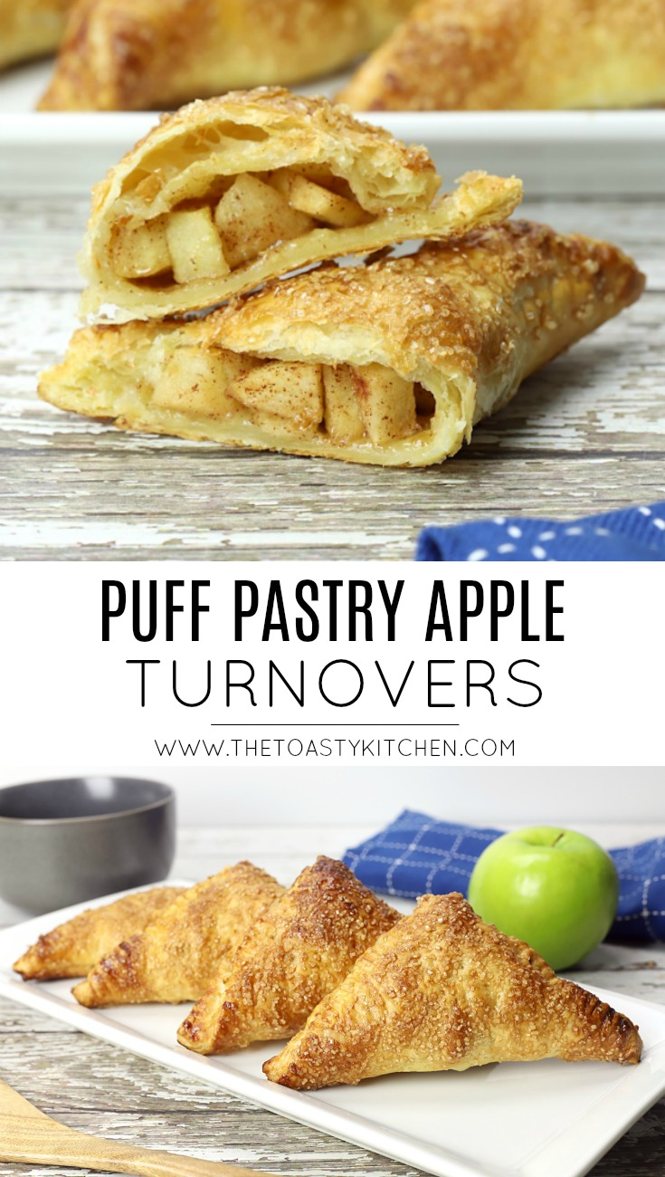 Puff Pastry Apple Turnovers by The Toasty Kitchen
