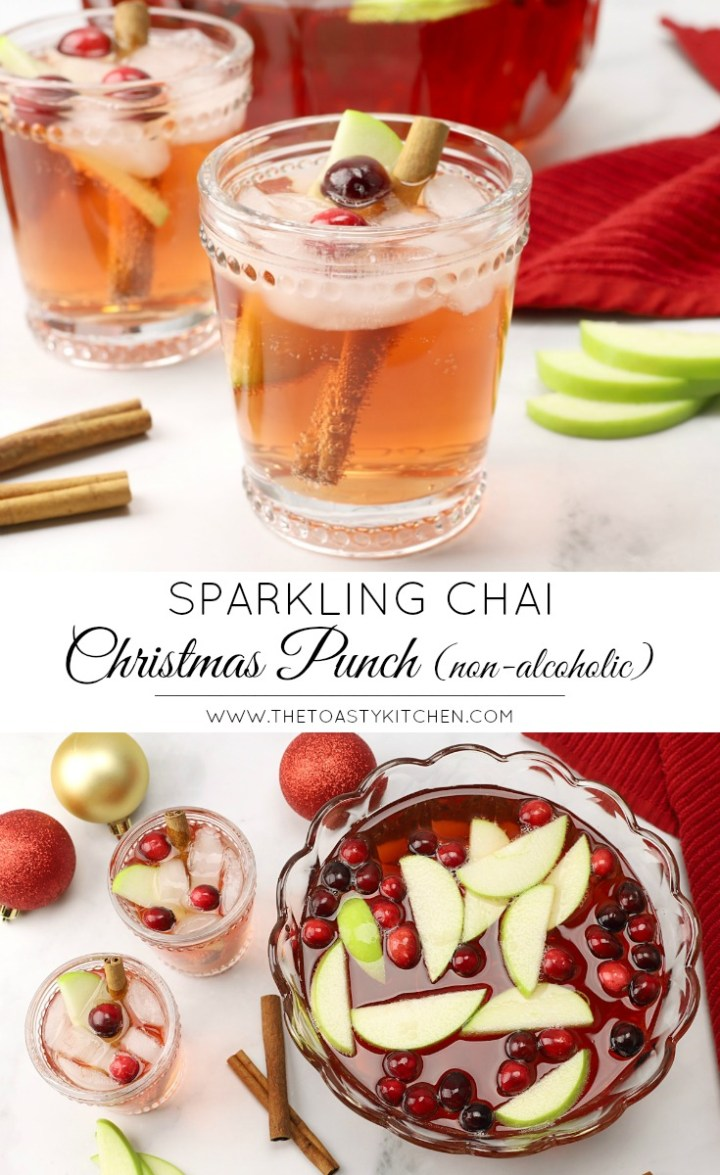Sparkling Chai Christmas Punch by The Toasty Kitchen