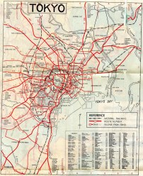 Map of American Occupied Tokyo.