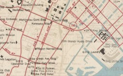 Map of central Tokyo during the Occupation, from 1948. Detail: Tsukiji Market (then GHQ laundry)