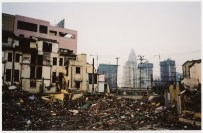Demolition in Shanghai, China in 2003