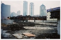 Shanghai empty lot red brick buildings 2003