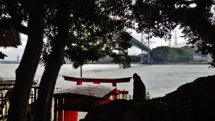 Straights of Kanmon shrine bridge