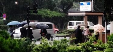 Hibiya Tokyo umbrella rain 2