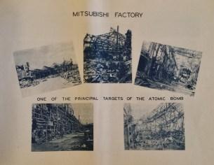 Atomic Bomb Nagasaki Mitsubishi factory destroyed
