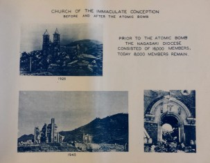 Church of Immaculate conception Nagasaki atomic bomb damage