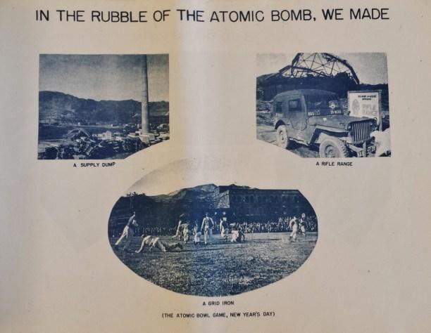 Nagasaki atomic bomb rubble supply dump rifle range