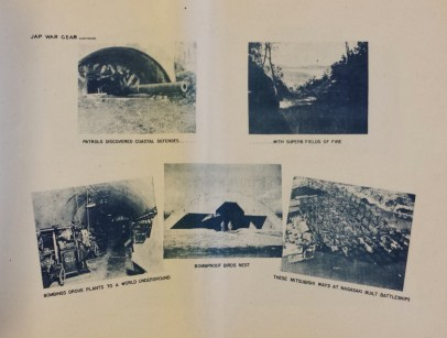 Pictorial Arrowhead Occupation of Japanese War Gear bomb shelter