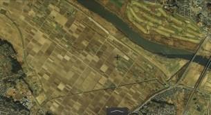 Chiba Japan fields KITASHINDEN 1984-1987 aerial photo