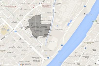 Minami Shinozakicho 5-Chome edogawa danchi Google map