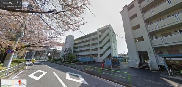 Toei Minami Tanaka Apartment cherry trees 1