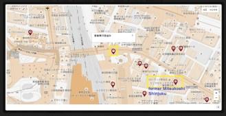East Shinjuku map Mitsukoshi store