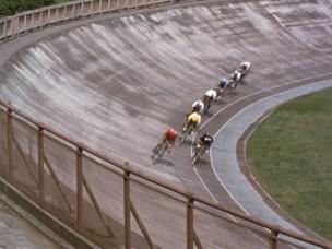 End of Summer 1961 keirin bike racing velodrome 3