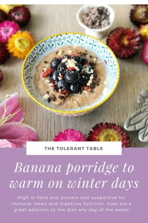 Banana Porridge to Warm on Winter Days