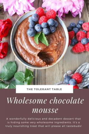 Wholesome Chocolate Mousse Pinterest