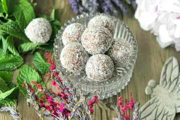 Chocolate Peppermint Fudge Bliss Balls