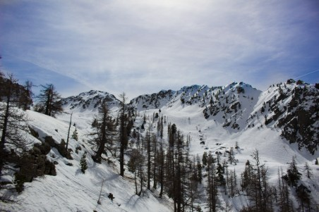 View from the chairlift