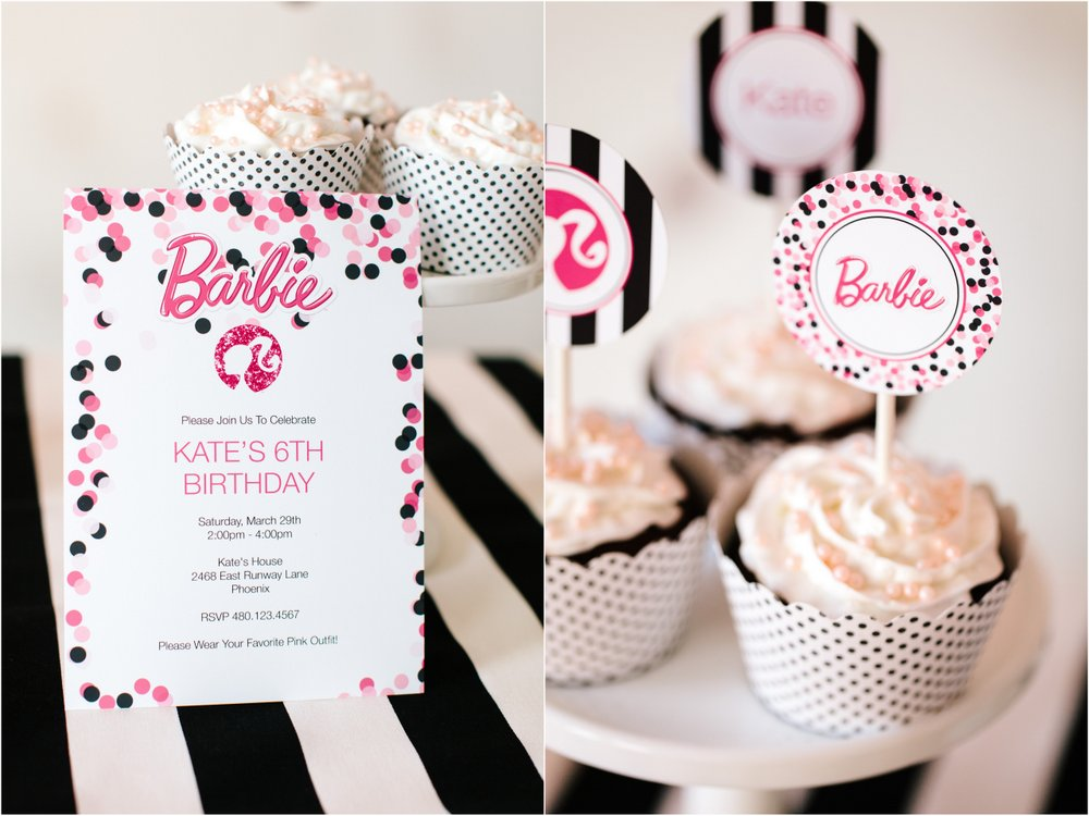 pictures on sample invitation 7th birthday barbie